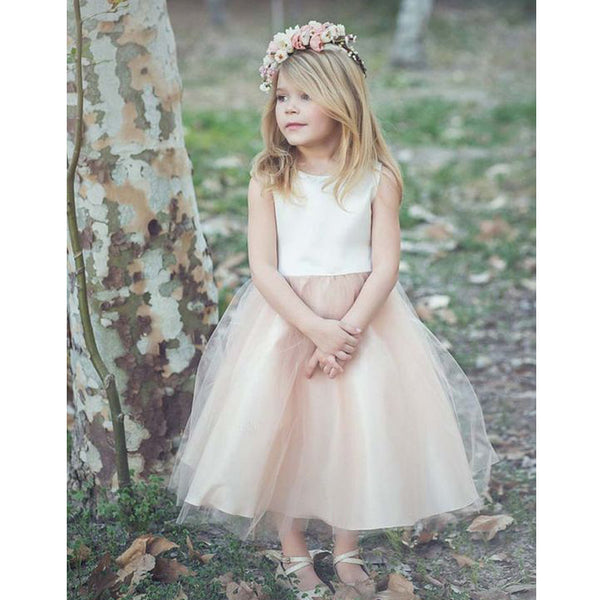 Cute Two Pieces Flower Girl Dresses , BW0248