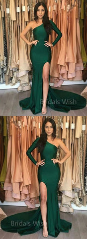 products/green_one_shoulder_long_sleeves_prom_dress_bridalswish.jpg