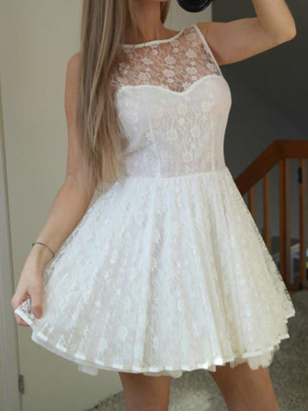 Charming Lace Sweet Heart Short Homecoming Dresses, BW0202