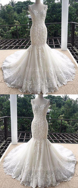 Elegant Sweet Heart Lace Mermaid Wedding Dresses, BW0583