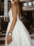 Pretty Lace Spaghetti Strap V-Neck Backless Short Homecoming Dresses, BW0205