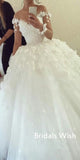 A-line Lace Applique Tulle Off-shoulder Wedding Dress EW0118