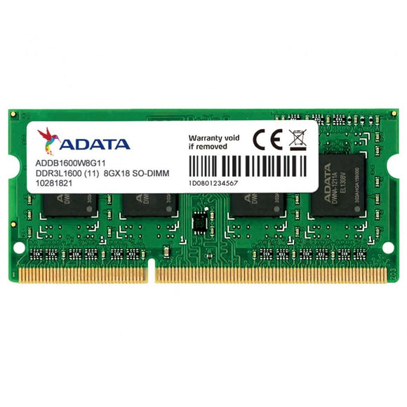 ADATA - 8GB 512x8 DDR3L 1600 DIMM low voltage - shop.remarkit