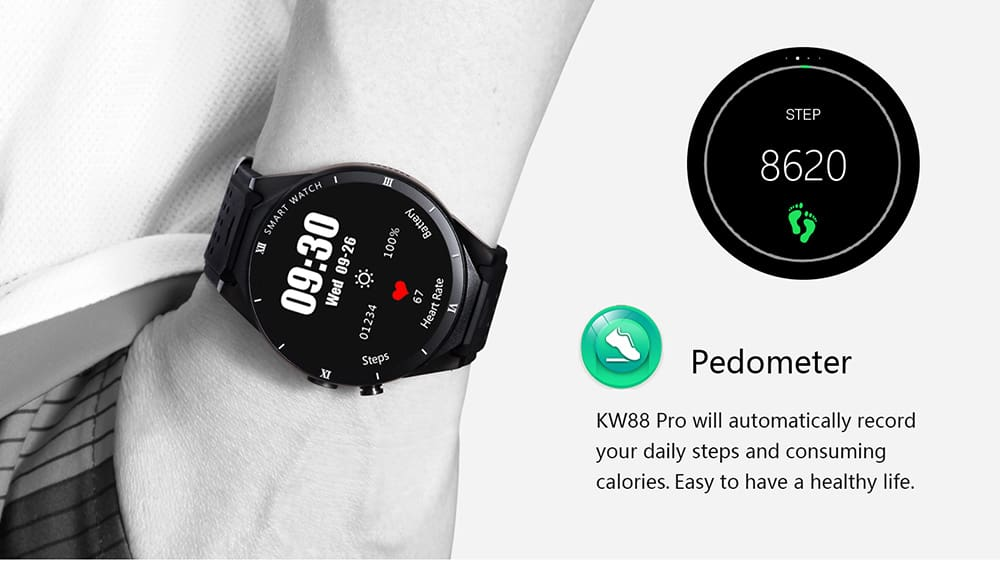 Kingwear Kw88 Pro 3g Smartwatch Phone Android Root Deals
