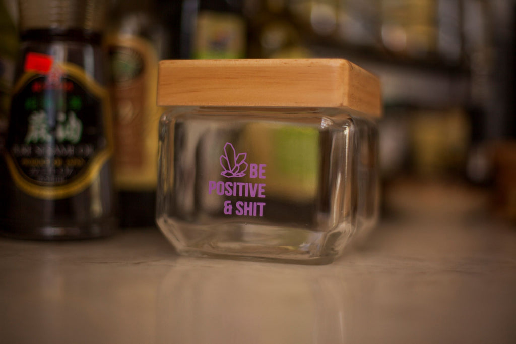 Be Positive Stash Jar