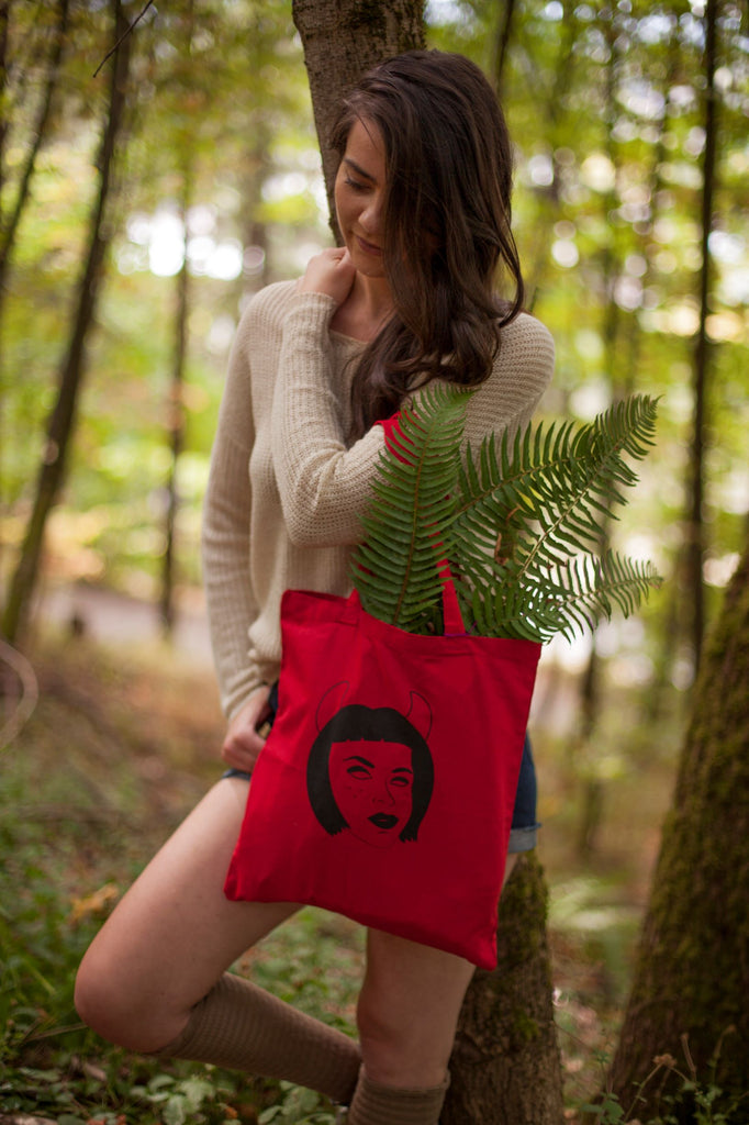 Devil Grrrl Tote Bag
