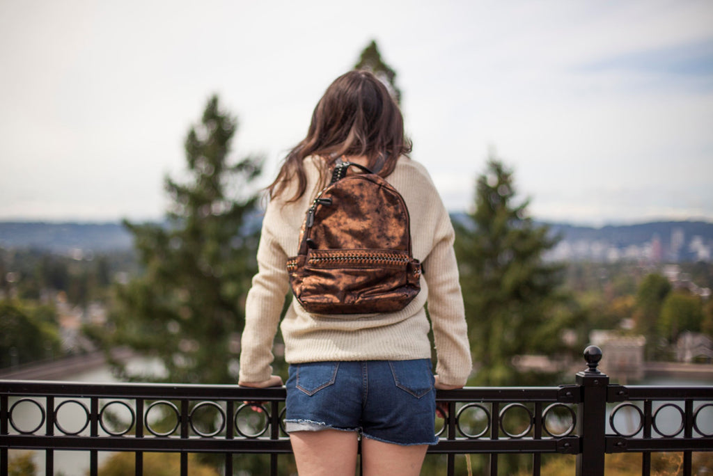 Chained Up Vegan Leather Backpack