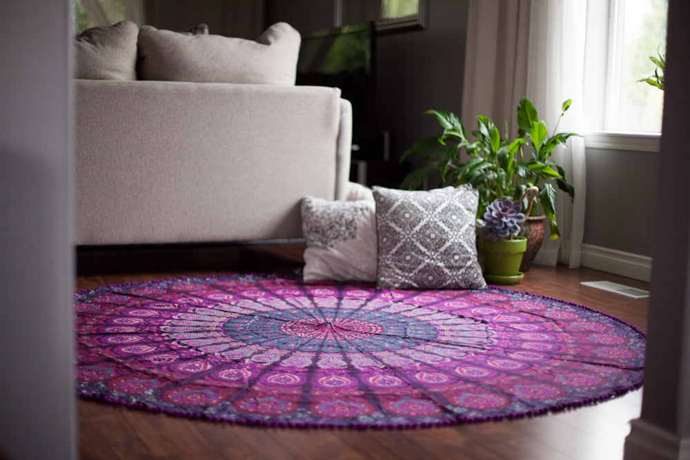 Round Medallion Cotton Tapestry