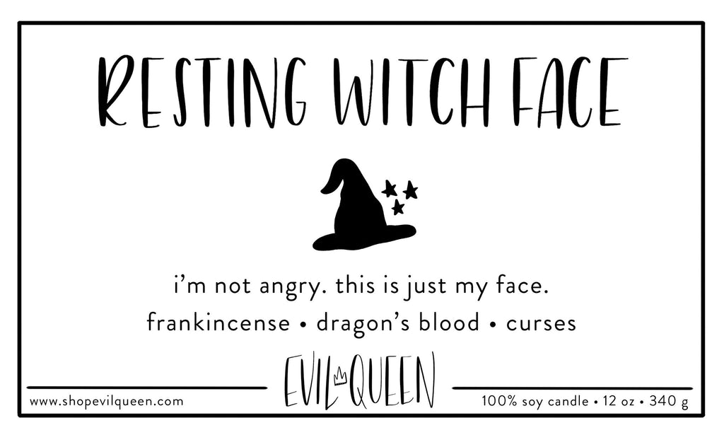 Resting Witch Face Soy Candle