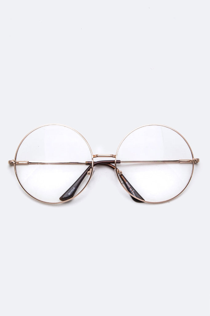 Oversized Clear Optical Glasses