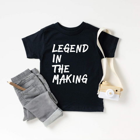 Legend In The Making Black Toddler Tee