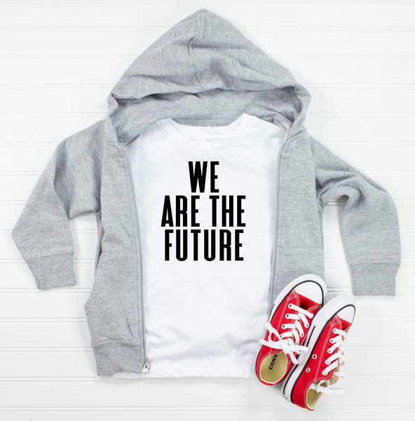 We Are The Future White Toddler Tee