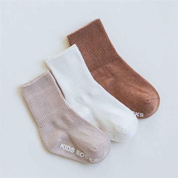 Natural Nudes Half Ribbed 3 Socks Set