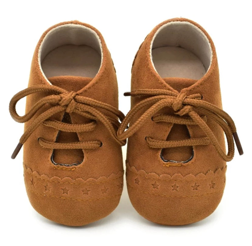 Baby Brogue Shoes Tan