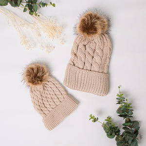 Mama and Mini Hats Beige