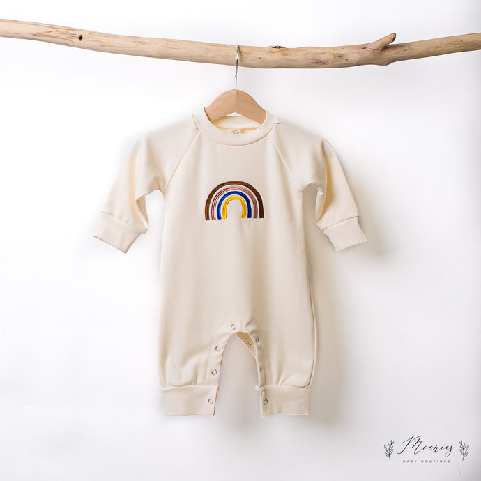 Rainbow Embroidered Romper