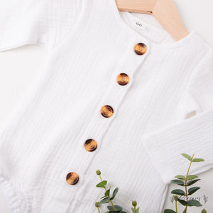 Linen Button Romper