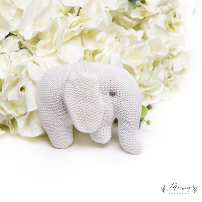 Knitted Ember Elephant