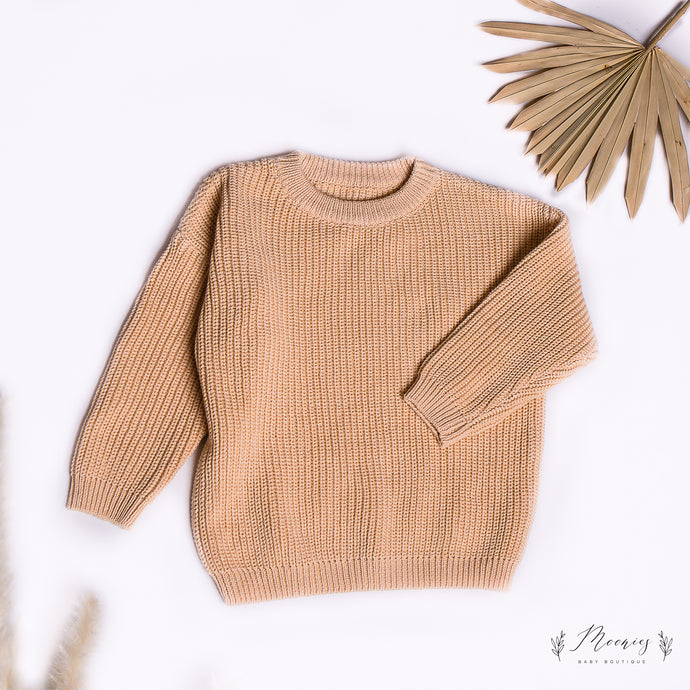 Cable Knitted Jumper Chestnut