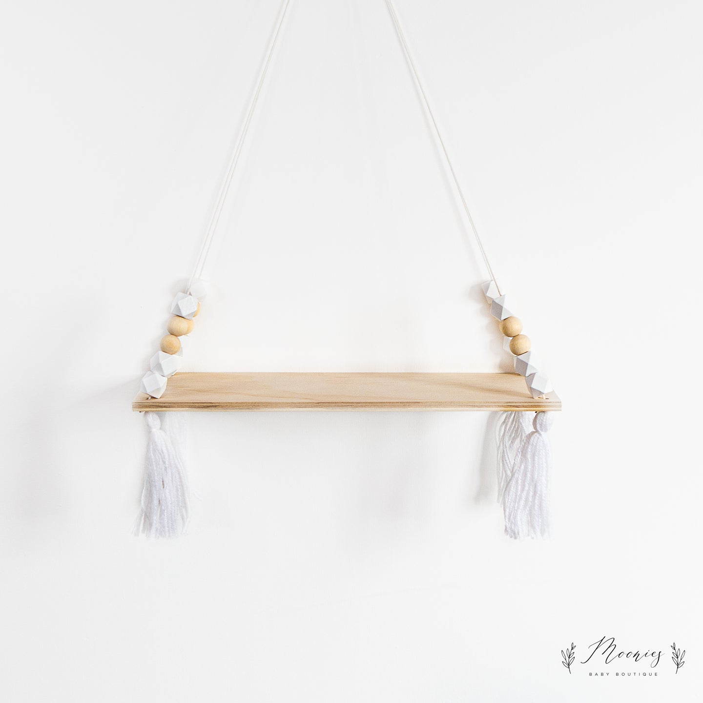 Wooden Tassel Shelf White