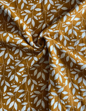 Load image into Gallery viewer, Mustard Leaf Print Organic Muslin Swaddle