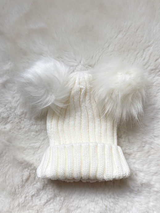 Winter Warmer Hat White