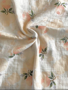 Floral Print Organic Muslin Swaddle