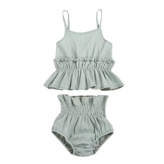 Summer Ruffle Set Sage
