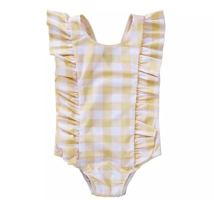 Gingham Ruffle Swimsuit