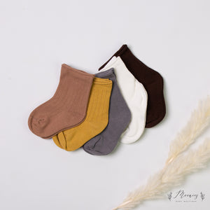Ribbed Socks Set Smoke