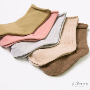 Ribbed Socks Set - Dusty