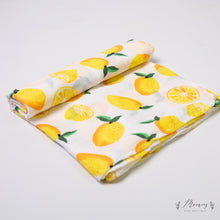 Load image into Gallery viewer, Lemon Muslin Swaddle