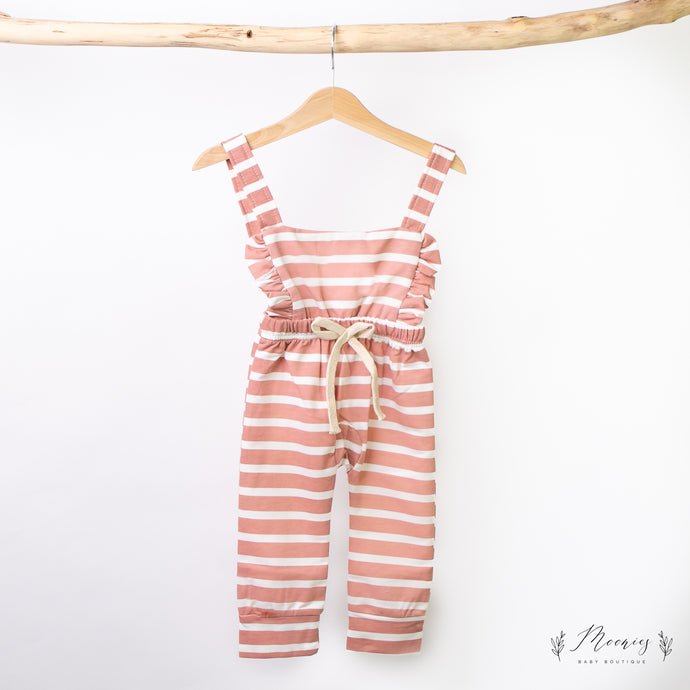 Striped Rose Dungarees