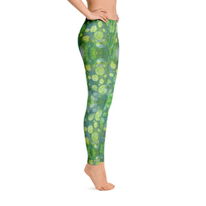 Green Abstract 1 Leggings