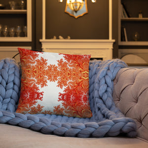 Orange Floral Basic Pillow