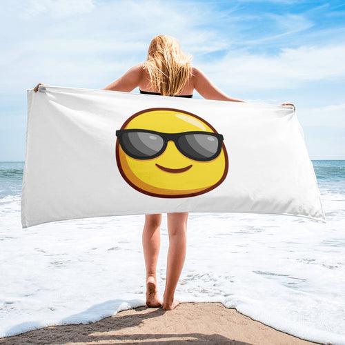 Smiley Face With Sunglasses Towel