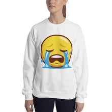 Load image into Gallery viewer, Crying Face Unisex Sweatshirt