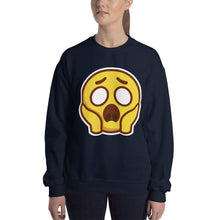 Load image into Gallery viewer, Scared Face Unisex Sweatshirt