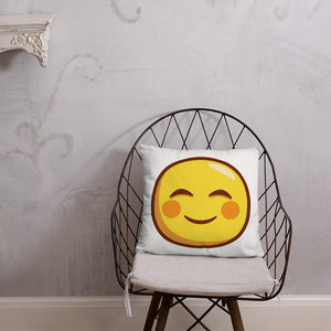 Smiling Face with Smiling Eyes Basic Pillow