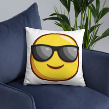 Load image into Gallery viewer, Smiling Face with Sunglases Basic Pillow