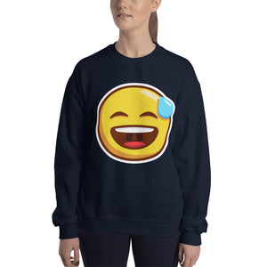 Smiling Face with Open Mouth and Cold Sweat Unisex Sweatshirt