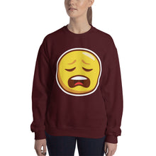 Load image into Gallery viewer, Weary Face Unisex Sweatshirt