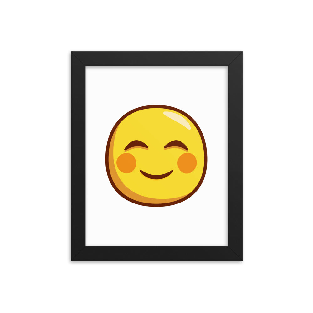 Smiling Face Framed poster