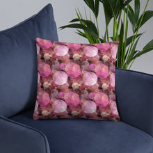 Load image into Gallery viewer, Pink Bubbles Premium Pillow