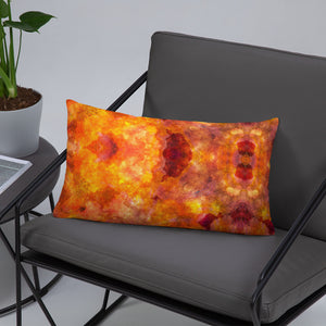 Orange Pattern Premium Pillow