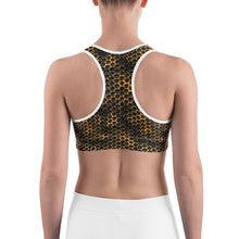Load image into Gallery viewer, Honeycomb Bee Sports bra