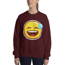 Load image into Gallery viewer, Smiling Face with Open Mouth and Cold Sweat Unisex Sweatshirt