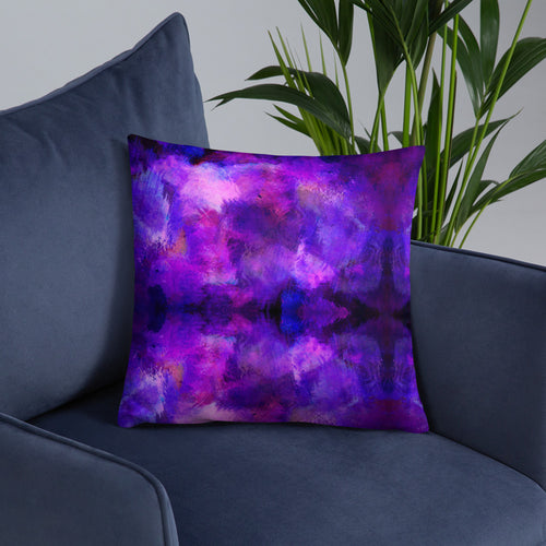 Purple Pattern Basic Pillow