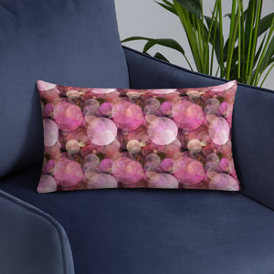Pink Bubbles Premium Pillow