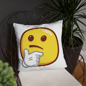 Thinking Face Basic Pillow
